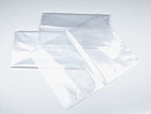 "15"" x 36"" 1 mil. - Clear Plastic Flat Open Poly Bag - Extra Strength (100 Pack) 