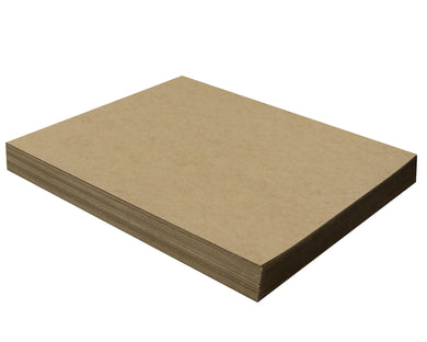 50 Sheets Chipboard 11 x 14 inch - 22pt (point) Light Weight Brown Kraft Cardboard Scrapbook Sheets & Picture Frame Backing Paper Board