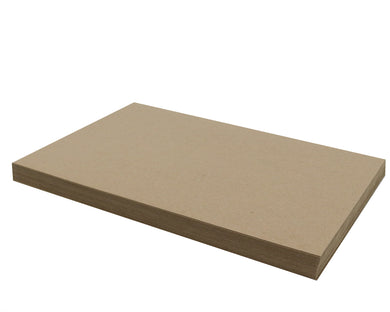50 Sheets Chipboard 11 x 17 inch - 22pt (point) Light Weight Brown Kraft Cardboard Scrapbook Sheets & Picture Frame Backing Paper Board