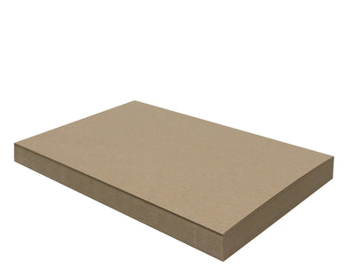 50 Sheets Chipboard 11 x 17 inch - 30pt (point) Medium Weight Brown Kraft Cardboard Scrapbook Sheets & Picture Frame Backing Paper Board