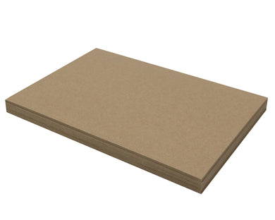 25 Sheets Chipboard 11 x 17 inch - 50pt (point) Heavy Weight Brown Kraft Cardboard Scrapbook Sheets & Picture Frame Backing Paper Board