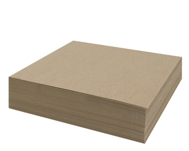 100 Sheets Chipboard 12 x 12 inch - 30pt (point) Medium Weight Brown Kraft Cardboard Scrapbook Sheets & Picture Frame Backing (.030 Caliper Thick) Paper Board | MagicWater Supply