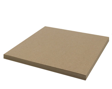 25 Sheets Chipboard 12 x 12 inch - 30pt (point) Medium Weight Brown Kraft Cardboard Scrapbook Sheets & Picture Frame Backing Paper Board