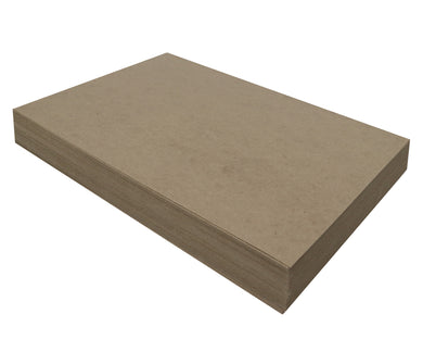 100 Sheets Chipboard 12 x 18 inch - 22pt (point) Light Weight Brown Kraft Cardboard Scrapbook Sheets & Picture Frame Backing Paper Board