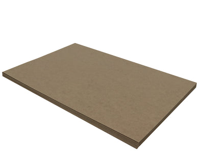 25 Sheets Chipboard 12 x 18 inch - 22pt (point) Light Weight Brown Kraft Cardboard Scrapbook Sheets & Picture Frame Backing Paper Board