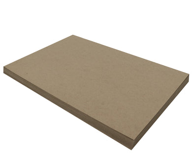 50 Sheets Chipboard 12 x 18 inch - 22pt (point) Light Weight Brown Kraft Cardboard Scrapbook Sheets & Picture Frame Backing Paper Board
