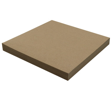 50 Sheets Chipboard 12 x 12 inch - 22pt (point) Light Weight Brown Kraft Cardboard Scrapbook Sheets & Picture Frame Backing Paper Board
