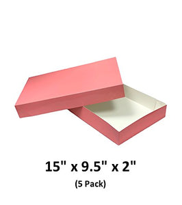 Posy Apparel Decorative Gift Boxes With Lids For Clothing and Gifts 15x9.5x2 (5 Pack) | MagicWater Supply