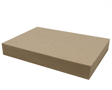 100 Sheets Chipboard 11 x 17 inch - 22pt (point) Light Weight Brown Kraft Cardboard Scrapbook Sheets & Picture Frame Backing Paper Board
