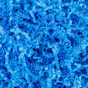 Crinkle Cut Paper Shred Filler (1 LB) for Gift Wrapping & Basket Filling - Light Blue | MagicWater Supply