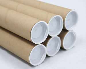 Mailing Tubes with Caps, 1.5 inch x 24 inch (6 Pack) | MagicWater Supply