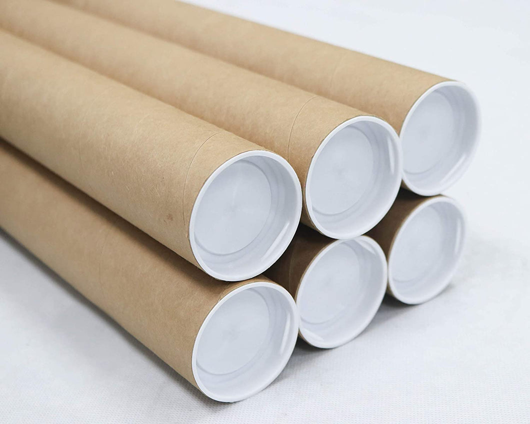 Mailing Tubes with Caps, 2 inch x 36 inch (6 Pack) | MagicWater Supply