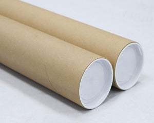 Mailing Tubes with Caps, 3 inch x 24 inch (2 Pack) | MagicWater Supply