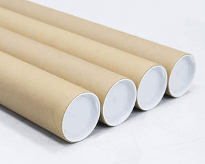 Mailing Tubes with Caps, 3 inch x 18 inch (4 Pack) | MagicWater Supply