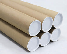 Mailing Tubes with Caps, 3 inch x 18 inch (6 Pack) | MagicWater Supply