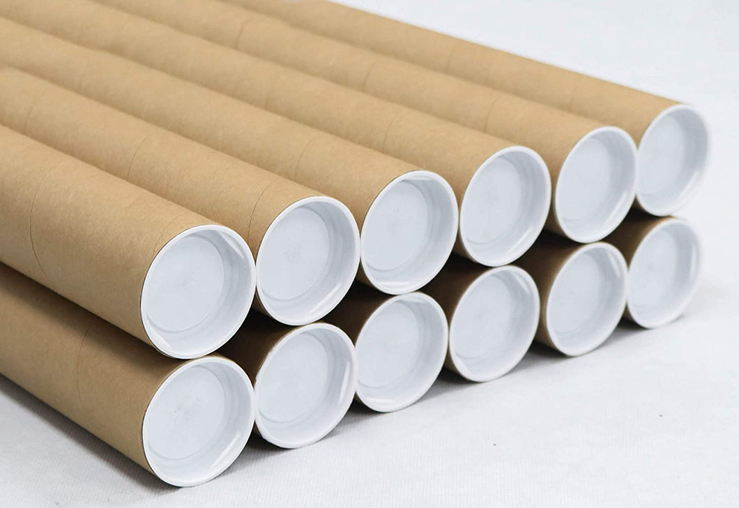 Mailing Tubes with Caps, 2 inch x 30 inch (12 Pack) | MagicWater Supply