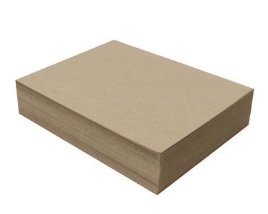 100 Sheets Chipboard 8.5 x 11 inch - 22pt (point) Light Weight Brown Kraft Cardboard Scrapbook Sheets & Picture Frame Backing Paper Board