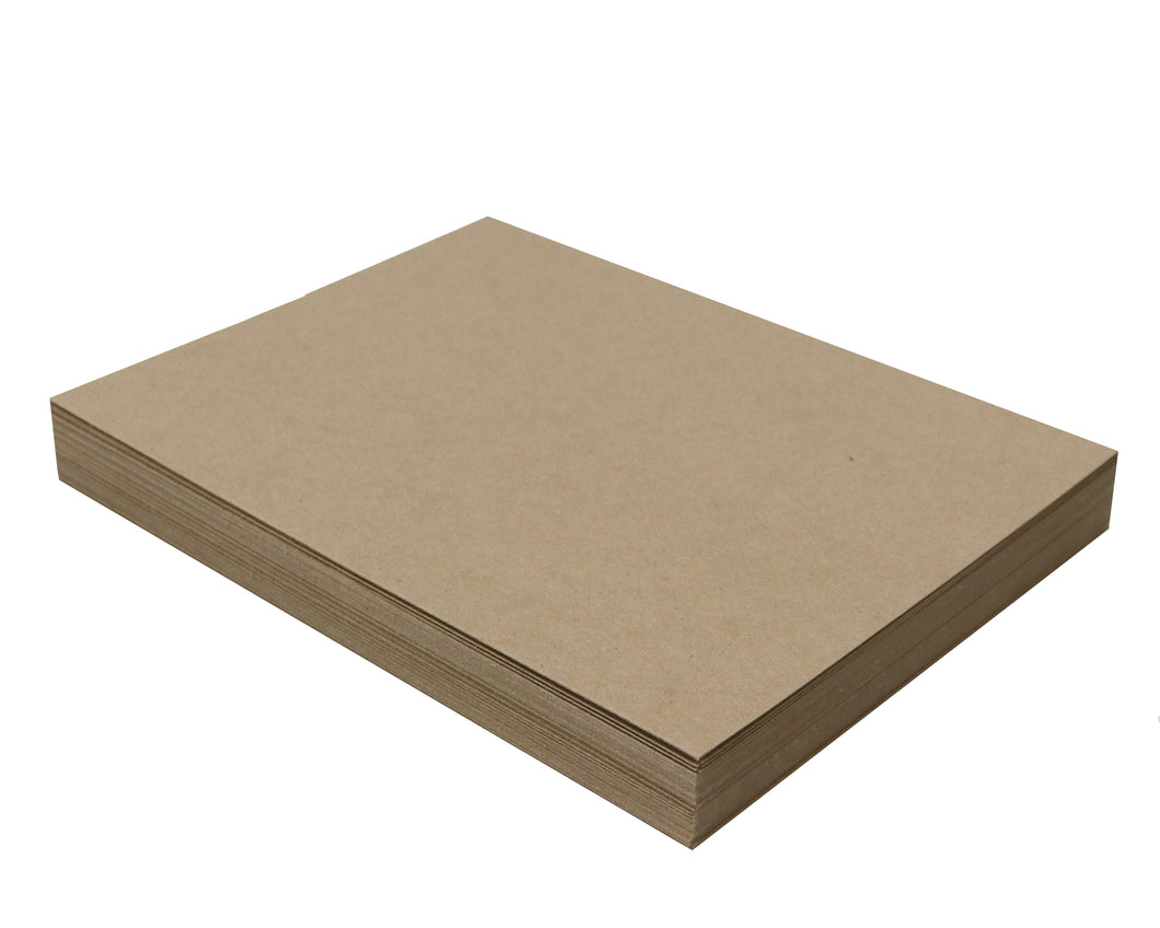 50 Sheets Chipboard 8 x 10 inch - 22pt (point) Light Weight Brown Kraft Cardboard Scrapbook Sheets & Picture Frame Backing (.022 Caliper Thick) Paper Board | MagicWater Supply