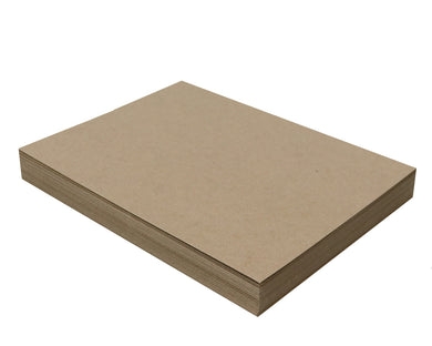 50 Sheets Chipboard 8.5 x 11 inch - 22pt (point) Light Weight Brown Kraft Cardboard Scrapbook Sheets & Picture Frame Backing Paper Board