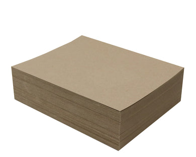100 Sheets Chipboard 8.5 x 11 inch - 30pt (point) Medium Weight Brown Kraft Cardboard Scrapbook Sheets & Picture Frame Backing Paper Board