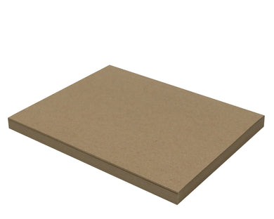 25 Sheets Chipboard 8.5 x 11 inch - 30pt (point) Medium Weight Brown Kraft Cardboard Scrapbook Sheets & Picture Frame Backing Paper Board