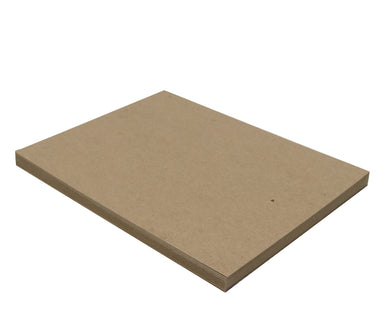 25 Sheets Chipboard 8.5 x 11 inch - 22pt (point) Light Weight Brown Kraft Cardboard Scrapbook Sheets & Picture Frame Backing Paper Board