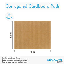 "Corrugated Cardboard Filler Insert Sheet Pads 1/8"" Thick - 8.5 x 11 Inches for Packing, mailing, and Crafts - 10 Pack"