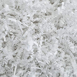 Crinkle Cut Paper Shred Filler (2 LB) for Gift Wrapping & Basket Filling - White | MagicWater Supply