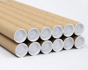 Mailing Tubes with Caps, 1.5 inch x 12 inch (12 Pack) | MagicWater Supply