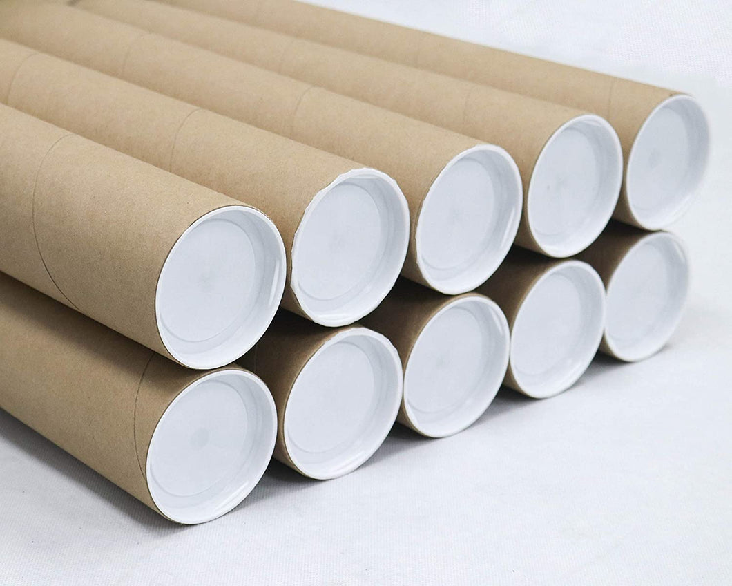 Mailing Tubes with Caps, 3 inch x 18 inch (10 Pack) | MagicWater Supply