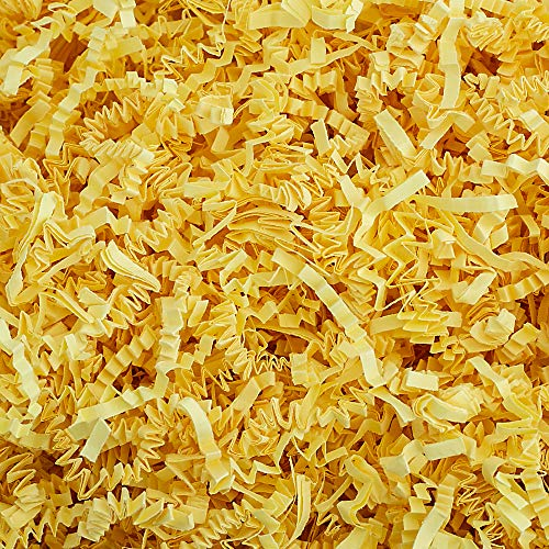Crinkle Cut Paper Shred Filler (1 LB) for Gift Wrapping & Basket Filling - Canary | MagicWater Supply