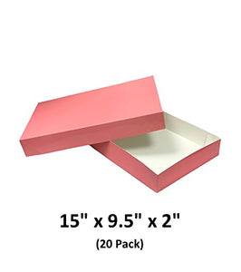 Posy Apparel Decorative Gift Boxes With Lids For Clothing and Gifts 15x9.5x2 (20 Pack) | MagicWater Supply