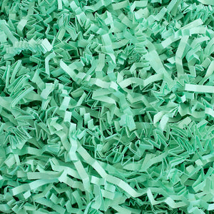 Crinkle Cut Paper Shred Filler (2 LB) for Gift Wrapping & Basket Filling - Mint | MagicWater Supply