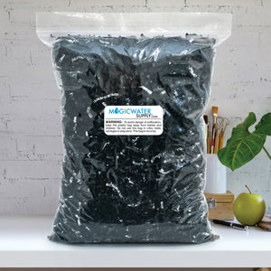 Crinkle Cut Paper Shred Filler (1 LB) for Gift Wrapping & Basket Filling - Black & Silver | MagicWater Supply