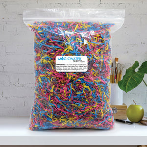 Crinkle Cut Paper Shred Filler (1/2 LB) for Gift Wrapping & Basket Filling - Fiesta Mix | MagicWater Supply