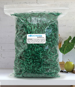Crinkle Cut Paper Shred Filler (1 LB) for Gift Wrapping & Basket Filling - Green | MagicWater Supply