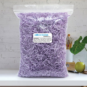 Crinkle Cut Paper Shred Filler (1/2 LB) for Gift Wrapping & Basket Filling - Lavender | MagicWater Supply