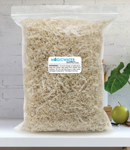 Crinkle Cut Paper Shred Filler (1 LB) for Gift Wrapping & Basket Filling - Light Ivory | MagicWater Supply