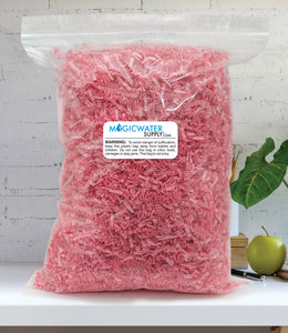 Crinkle Cut Paper Shred Filler (1 LB) for Gift Wrapping & Basket Filling - Light Pink | MagicWater Supply