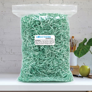 Crinkle Cut Paper Shred Filler (1 LB) for Gift Wrapping & Basket Filling - Mint | MagicWater Supply