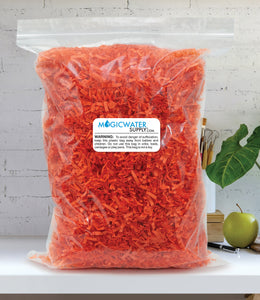 Crinkle Cut Paper Shred Filler (1/2 LB) for Gift Wrapping & Basket Filling - Orange | MagicWater Supply