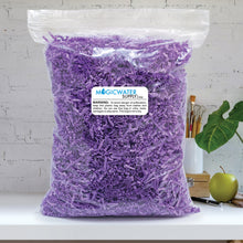 Crinkle Cut Paper Shred Filler (1/2 LB) for Gift Wrapping & Basket Filling - Purple | MagicWater Supply