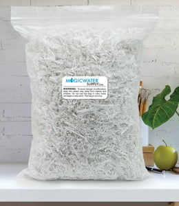 Crinkle Cut Paper Shred Filler (1/2 LB) for Gift Wrapping & Basket Filling - White | MagicWater Supply
