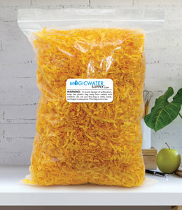 Crinkle Cut Paper Shred Filler (1 LB) for Gift Wrapping & Basket Filling - Yellow | MagicWater Supply