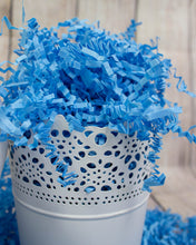 Crinkle Cut Paper Shred Filler (2 LB) for Gift Wrapping & Basket Filling - Light Blue | MagicWater Supply