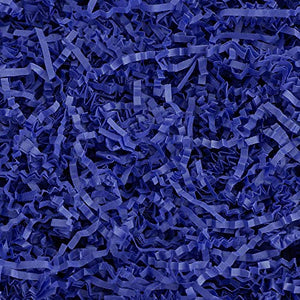 Crinkle Cut Paper Shred Filler (1/2 LB) for Gift Wrapping & Basket Filling - Royal Blue | MagicWater Supply