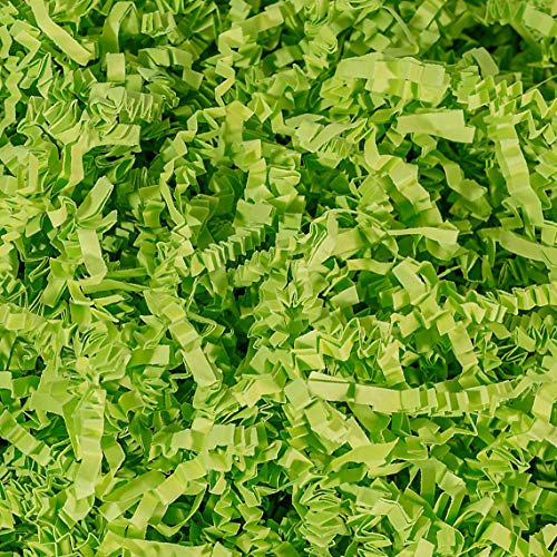 Crinkle Cut Paper Shred Filler (1 LB) for Gift Wrapping & Basket Filling - Lime Green | MagicWater Supply
