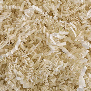 Crinkle Cut Paper Shred Filler (2 LB) for Gift Wrapping & Basket Filling - Light Ivory | MagicWater Supply