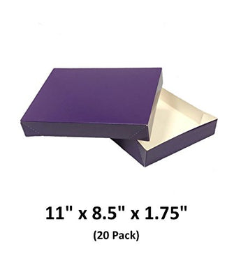 Grape Apparel Decorative Gift Boxes With Lids For Clothing and Gifts 11x8.5x1.75 (20 Pack) | MagicWater Supply
