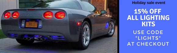 Corvette led lights accessories